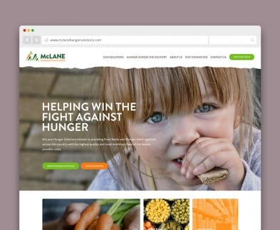 Website development Germantown MD - McLane Hunger